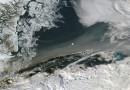 Humo sobre el mar de Groenlandia