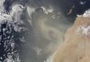 Tormenta de polvo sobre las islas Canarias