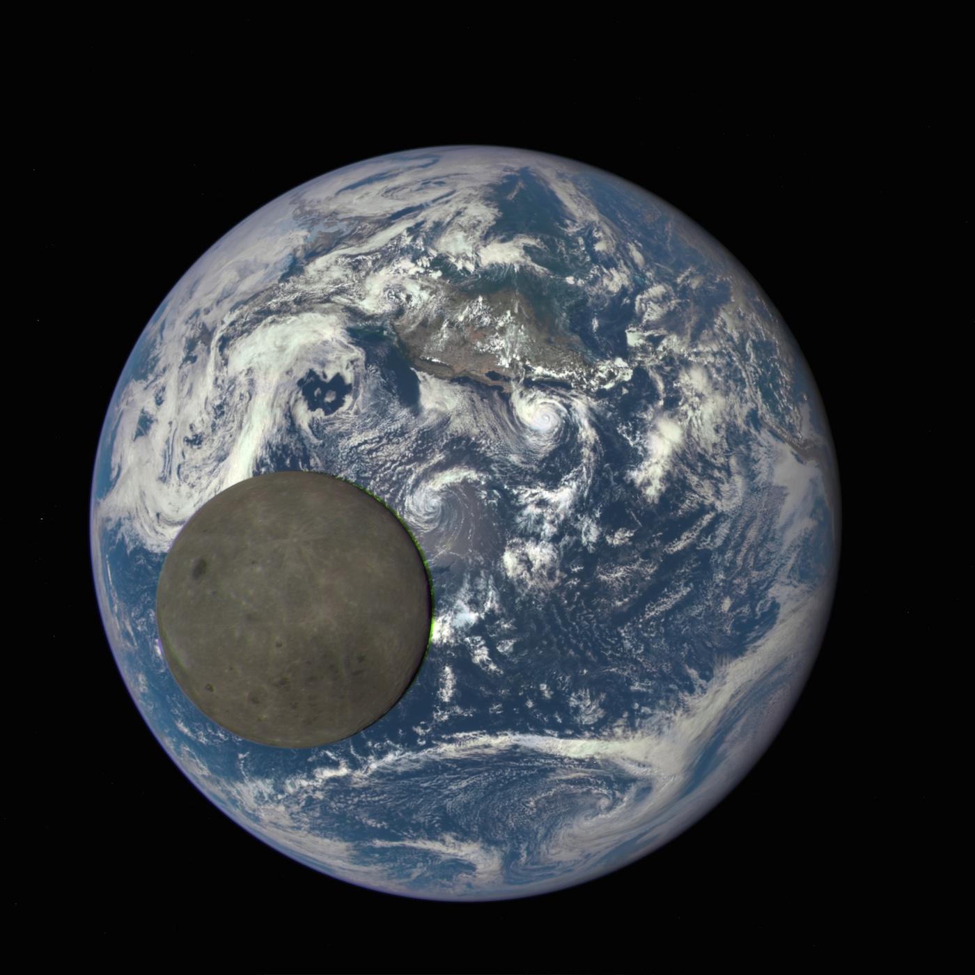 El satélite DSCOVR capta a la Tierra y al lado oculto de la Luna