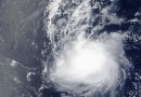La tormenta tropical Iune (02C) al sur de Hawái