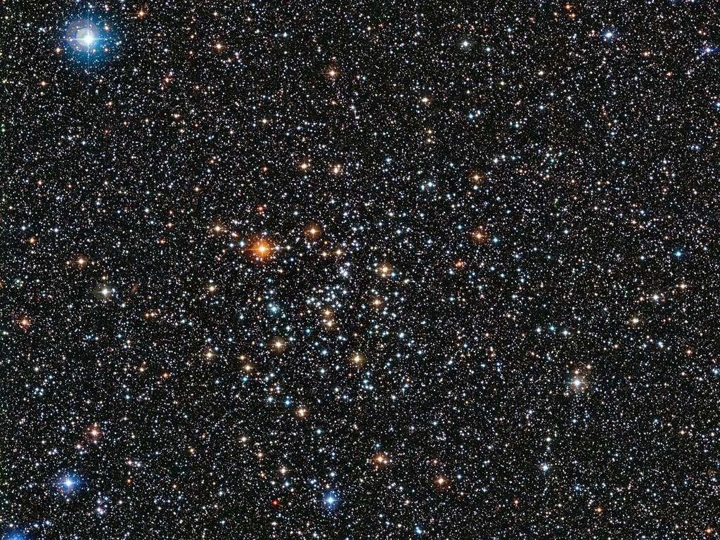 Imagen del cúmulo estelar IC 4651 captada por la cámara de amplio campo WFI (Wide Field Imager), instalada en el Telescopio MPG/ESO de 2,2 metros, en el Observatorio La Silla de ESO, en Chile. Crédito: ESO