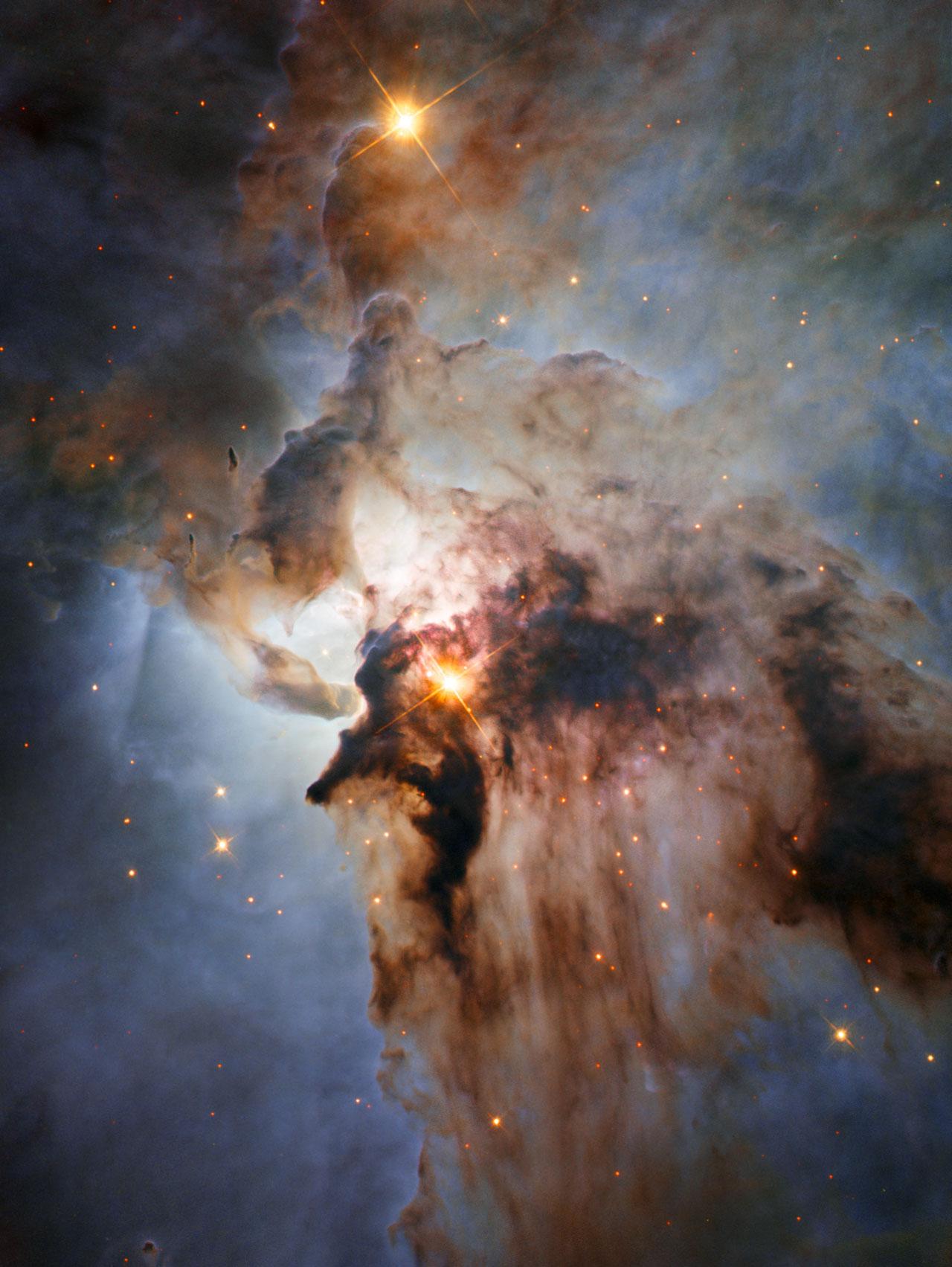 Fuertes tormentas en la Nebulosa de la Laguna (M8)