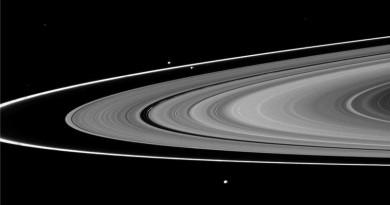 Explican el origen del anillo F de Saturno y sus satélites pastores