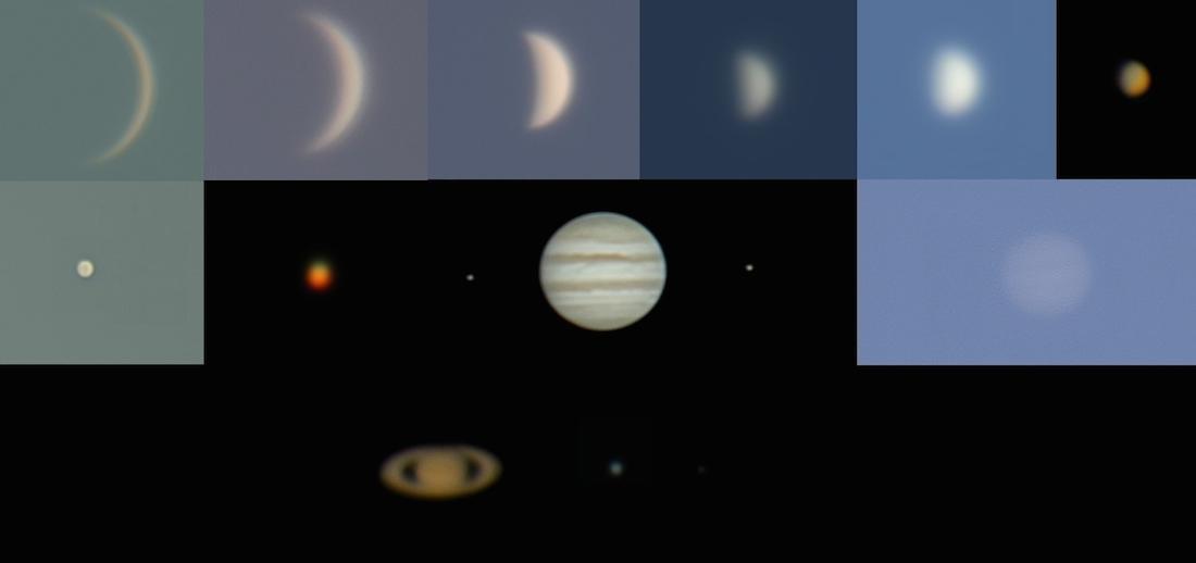 Fotograf U00edas De Venus  Mercurio  Marte  J U00fapiter  Saturno Y