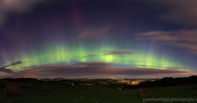 Auroras boreales desde Aberdeenshire, Escocia