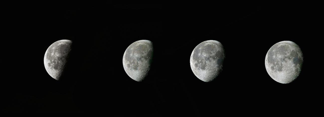 Imagen de la evoluci n de la fase menguante de la luna los for Que fase lunar hay hoy