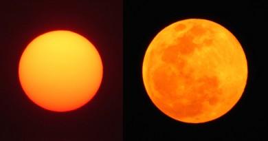 Fotos del Sol y la Luna desde Zimbabue