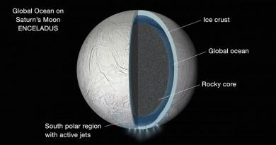 Descubren un océano global debajo de la corteza congelada de Encélado