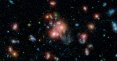 Descubren un cúmulo galáctico con un núcleo repleto de estrellas nuevas