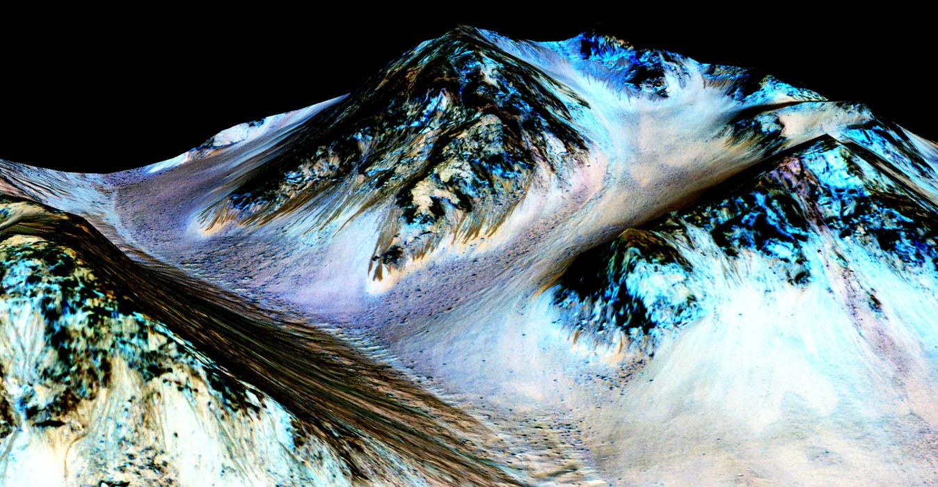 La NASA confirma que hay agua líquida fluyendo sobre la superficie...