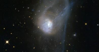 La lenta evolución de una colisión galáctica
