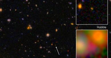 Descubren la galaxia más lejana a 13.200 millones de años luz de la Tierra