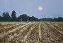 La salida de la Luna desde Iowa, Estados Unidos