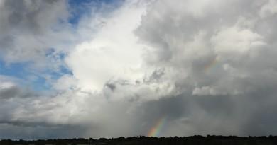 Foto de un arcoíris desde Irlanda del Norte