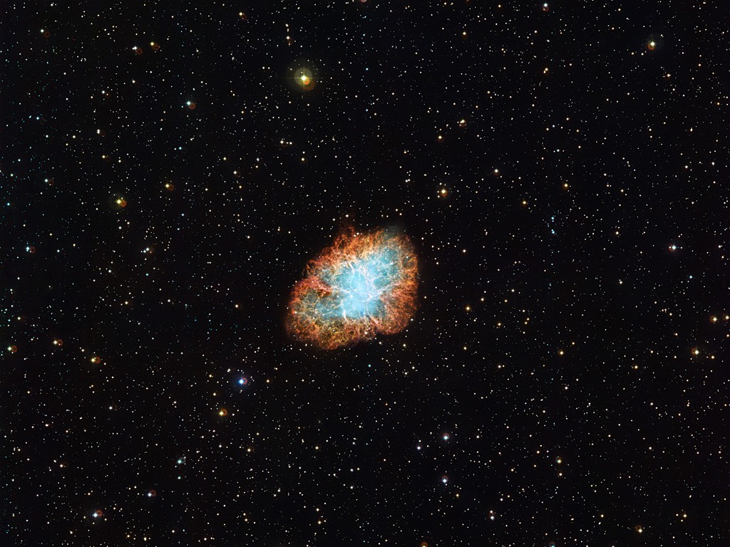 Wide View of the Crab Nebula