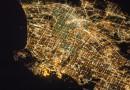 Los Ángeles, California, desde la Estación Espacial Internacional