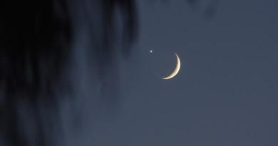 Venus y la Luna antes de la ocultación desde Australia