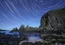 Foto de rastro de estrellas desde Irlanda del Norte