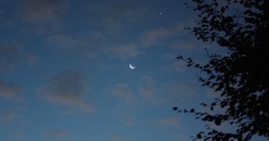 Venus y la Luna desde Dudley, Inglaterra