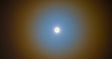 Imagen de una corona lunar desde Alberta, Canadá