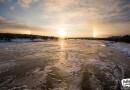 El Sol y dos parhelios desde Finlandia