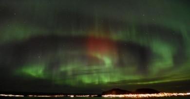 Auroras boreales desde Ålesund, Noruega