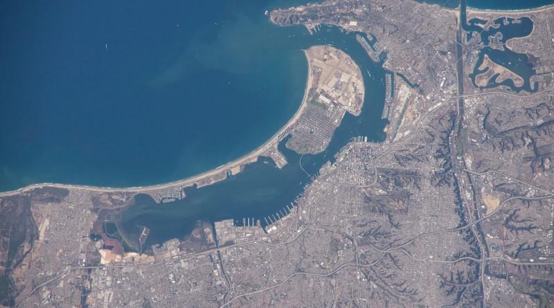 La Bahía de San Diego (California) desde la Estación Espacial Internacional