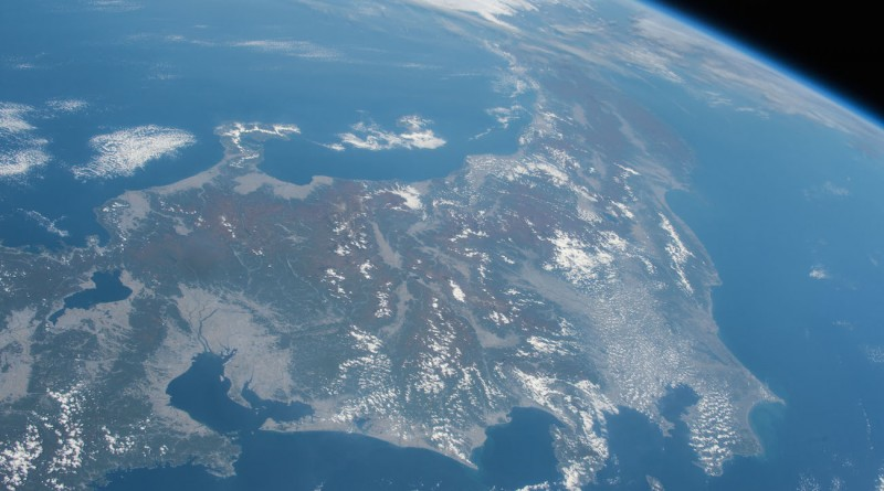 Japón desde la Estación Espacial Internacional