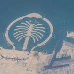 La isla artificial 'Palm Jebel Ali' en Dubái desde la Estación Espacial Internacional