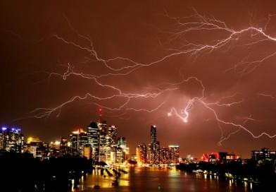 Tormenta eléctrica en Brisbane, Australia