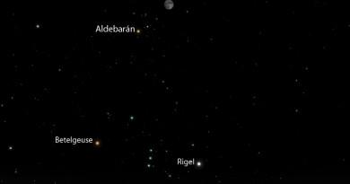 Esta noche se podrá ver la conjunción de la Luna y Aldebarán