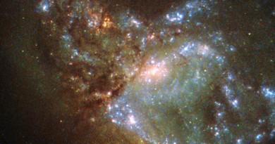 NGC 6052: el caos provocado por una colisión galáctica