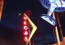 Venus y la Luna desde Las Vegas, Nevada (Estados Unidos)
