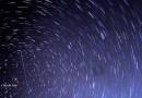 Rastro de estrellas y un meteoro desde Carolina del Norte, Estados Unidos