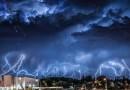 Imagen de una tormenta eléctrica en Sudáfrica
