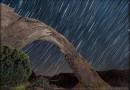Rastro de estrellas desde Utah, Estados Unidos