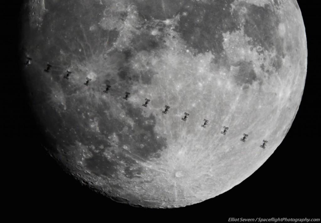 Imagen del tránsito de la ISS frente a la Luna desde Connecticut, EE ...