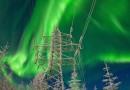 Auroras boreales desde Rusia