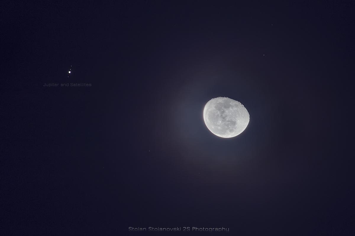 J piter y la luna desde la rep blica de macedonia el for Calendario lunar de hoy