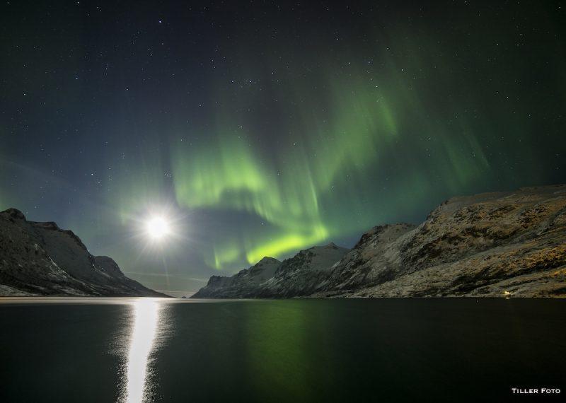 Auroras boreales y la Luna desde Tromsø, Noruega – El Universo Hoy