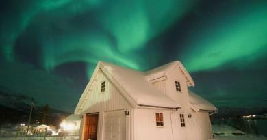 Auroras boreales desde Gratangen, Noruega