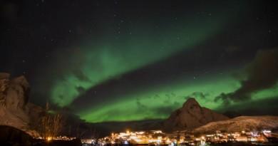 Auroras boreales desde Reine, Noruega