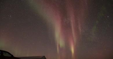 Auroras boreales desde Groenlandia