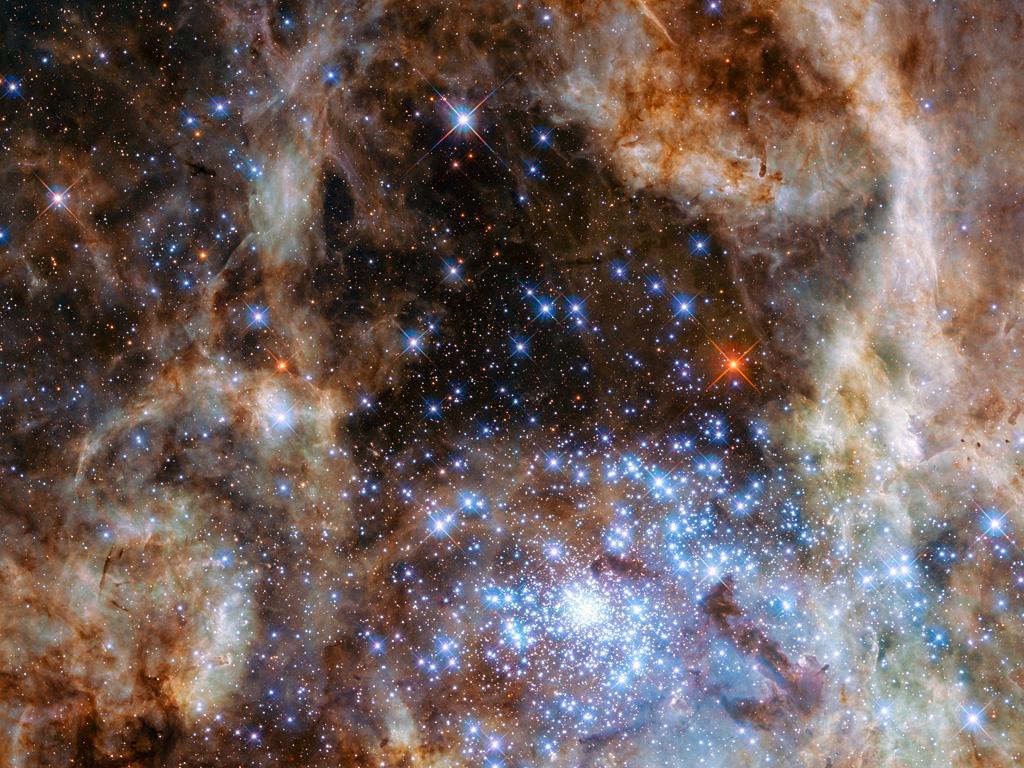 Las nueve estrellas gigantes del cúmulo estelar R136 - El Universo Hoy