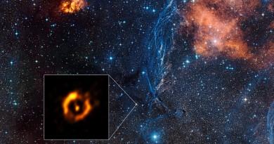 La imagen más nítida del disco de polvo que rodea a una estrella evolucionada