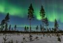 Auroras boreales desde Oulu, Finlandia