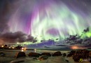 Auroras boreales desde Gimsøysand, Noruega