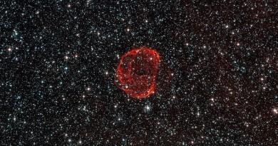 SNR 0519: los remanentes de una supernova