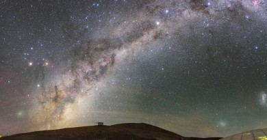 Un visitante poco frecuente sobre los cielos de Paranal (Chile)