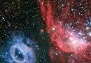 NGC 2020 y NGC 2014: una extraña pareja cósmica